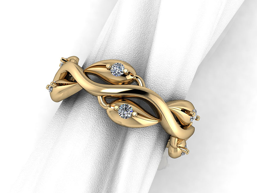 Vine Ring with Diamonds